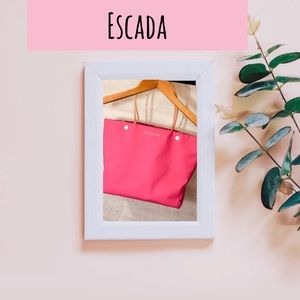 NWOT ESCADA pink summer beach tote
